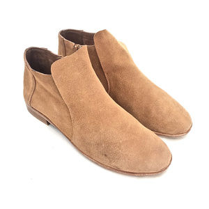 Jeffrey Campbell Camel Suede Ankle Boots